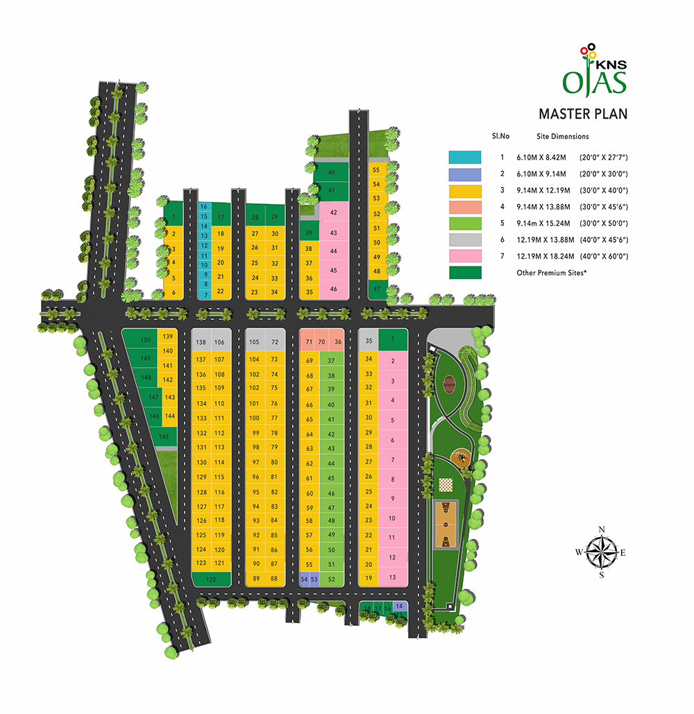 KNS OJAS Layout Plan